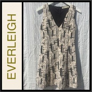 Everleigh Metallic and ivory cocktail Dress